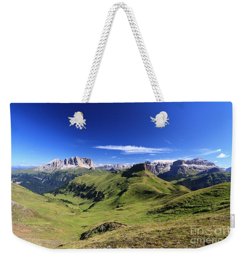 Alpine Weekender Tote Bag featuring the photograph Dolomiti - High Fassa Valley by Antonio Scarpi