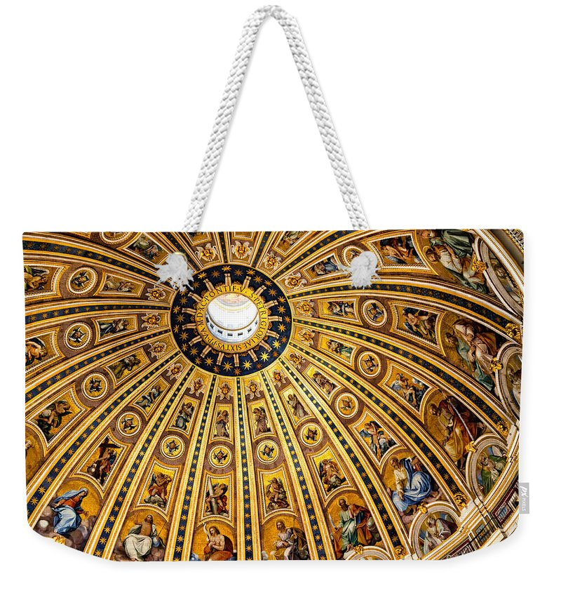 St Peters Weekender Tote Bag featuring the photograph Dome Of St Peter's Basilica Vatican City Italy by Jon Berghoff