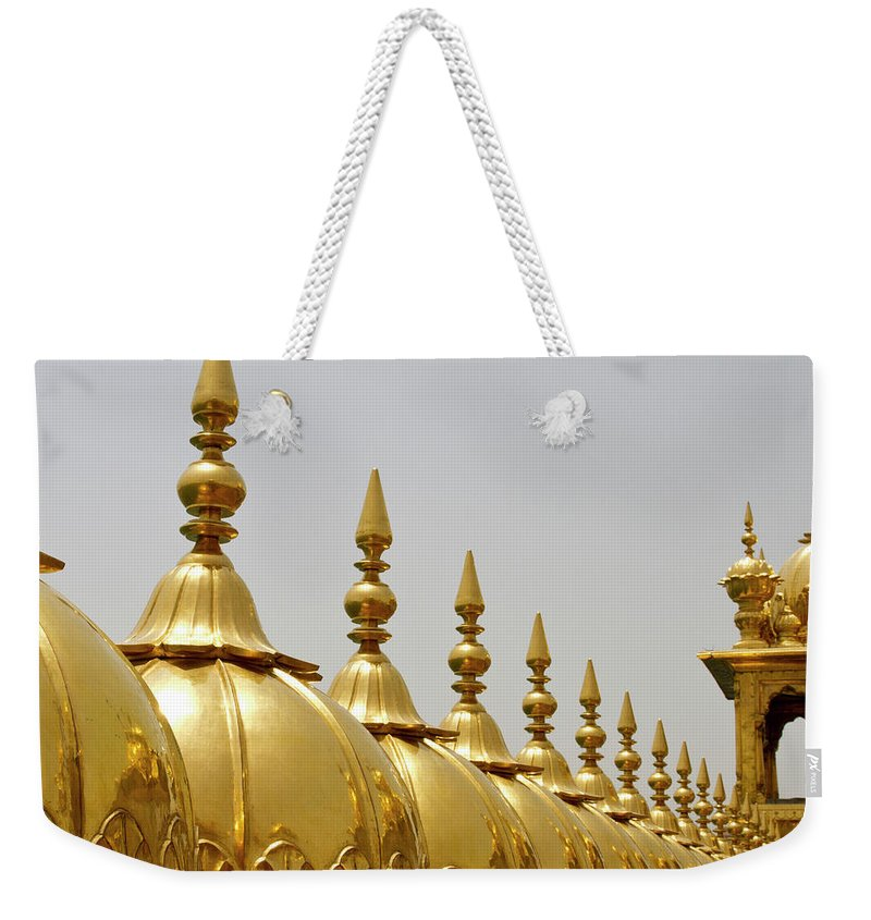 Tranquility Weekender Tote Bag featuring the photograph Domes At Golden Temple by *swatikulkarni*