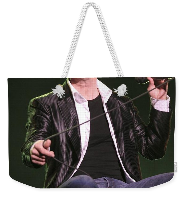 Actor Weekender Tote Bag featuring the photograph Donny Osmond by Concert Photos