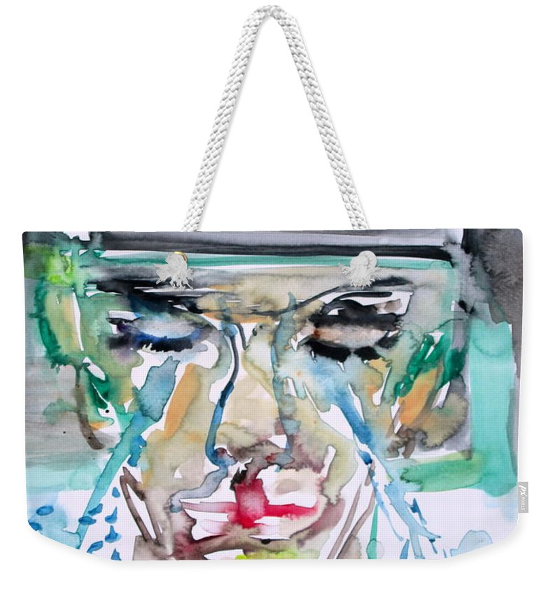 Man Weekender Tote Bag featuring the painting Don't Worry Friend-the War Is Over by Fabrizio Cassetta