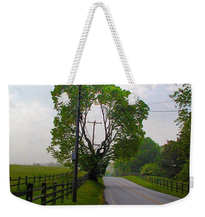 Donut Weekender Tote Bag featuring the photograph Donut Hole Tree by Bill Cannon