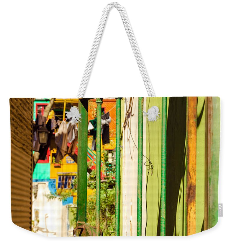 Argentina Weekender Tote Bag featuring the photograph Door And Patio by Jess Kraft