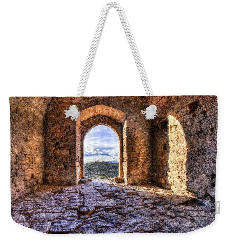 Door Weekender Tote Bag featuring the photograph Door Down To Earth by Marc Garrido