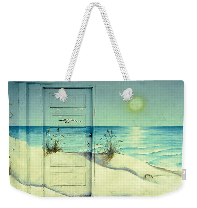 Architecture Weekender Tote Bag featuring the photograph Door of Perception by Skip Hunt