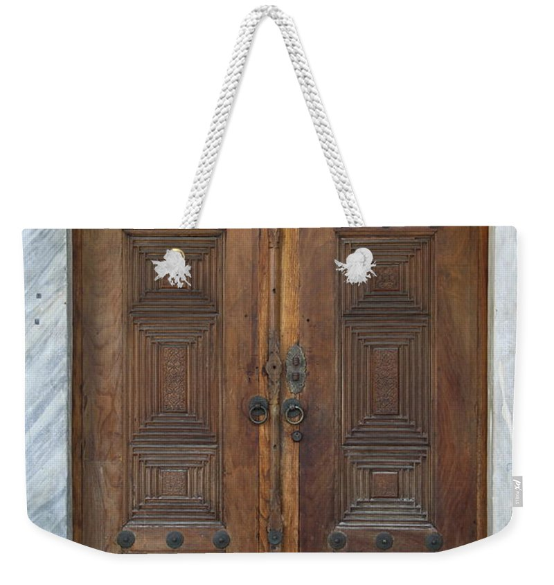 Door Weekender Tote Bag featuring the photograph Door Of The Topkapi Palace - Istanbul by Christiane Schulze Art And Photography