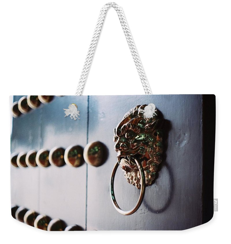 Taiwan Weekender Tote Bag featuring the photograph Door Ring by Photography By Bert.design