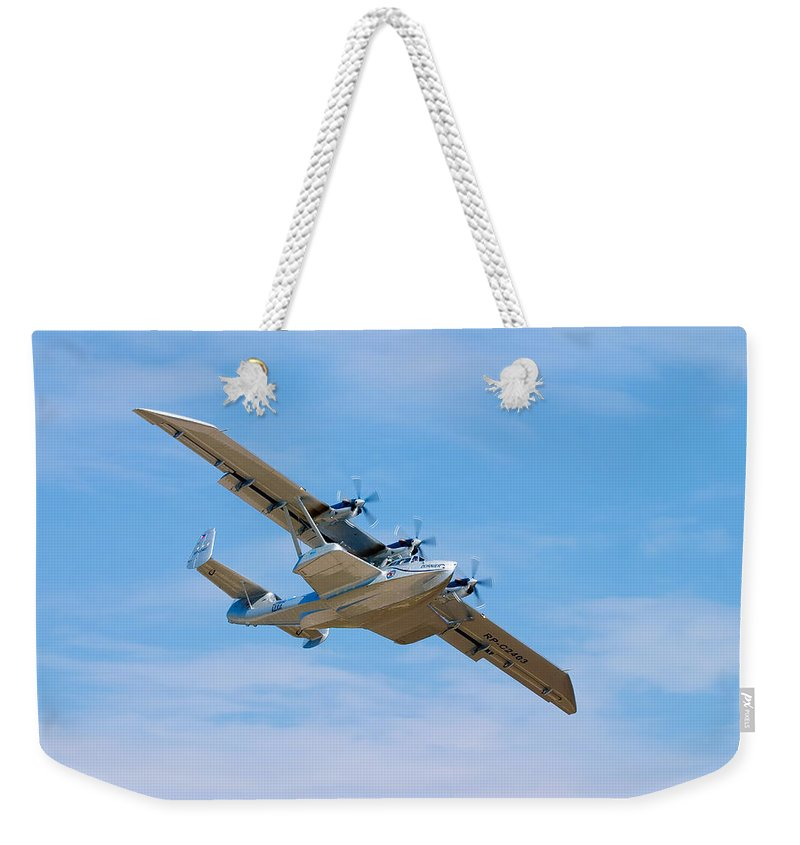 3scape Weekender Tote Bag featuring the photograph Dornier Do-24 by Adam Romanowicz