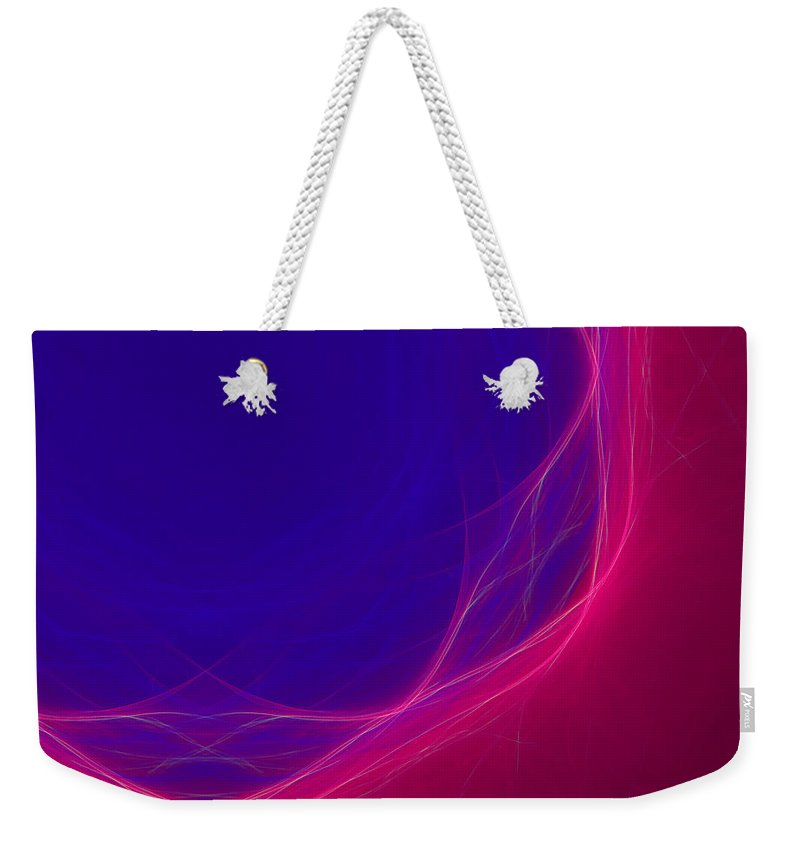 Psychology Weekender Tote Bag featuring the digital art Dot-08 by RochVanh