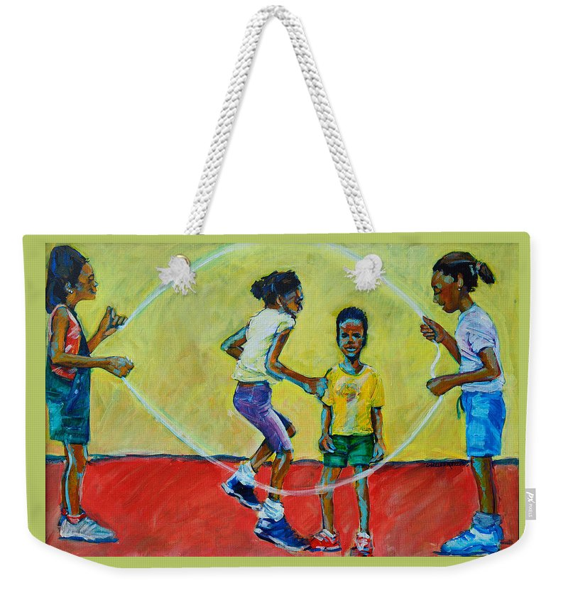 Play Weekender Tote Bag featuring the painting Double Dutch by Charles M Williams