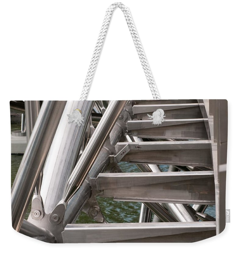 Singapore Weekender Tote Bag featuring the photograph Double Helix Bridge 03 by Rick Piper Photography
