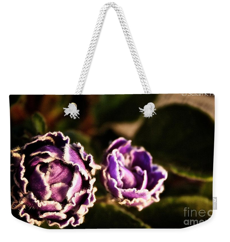 Flower Weekender Tote Bag featuring the photograph Double Ruffle by Susan Herber