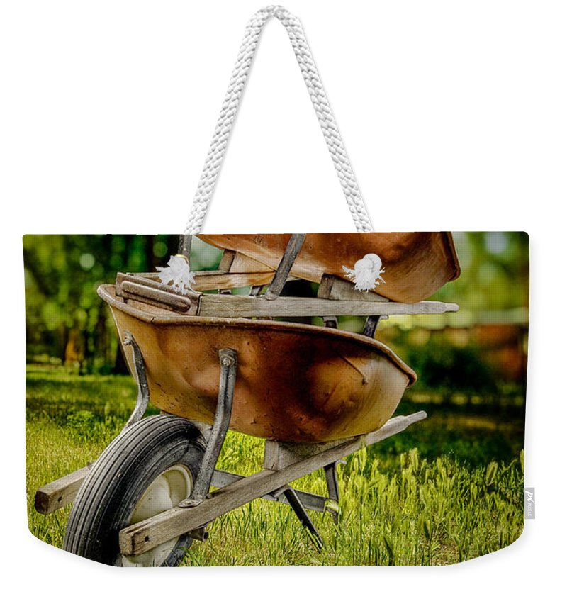 Antique Weekender Tote Bag featuring the photograph Double Wheelbarrow by Yo Pedro