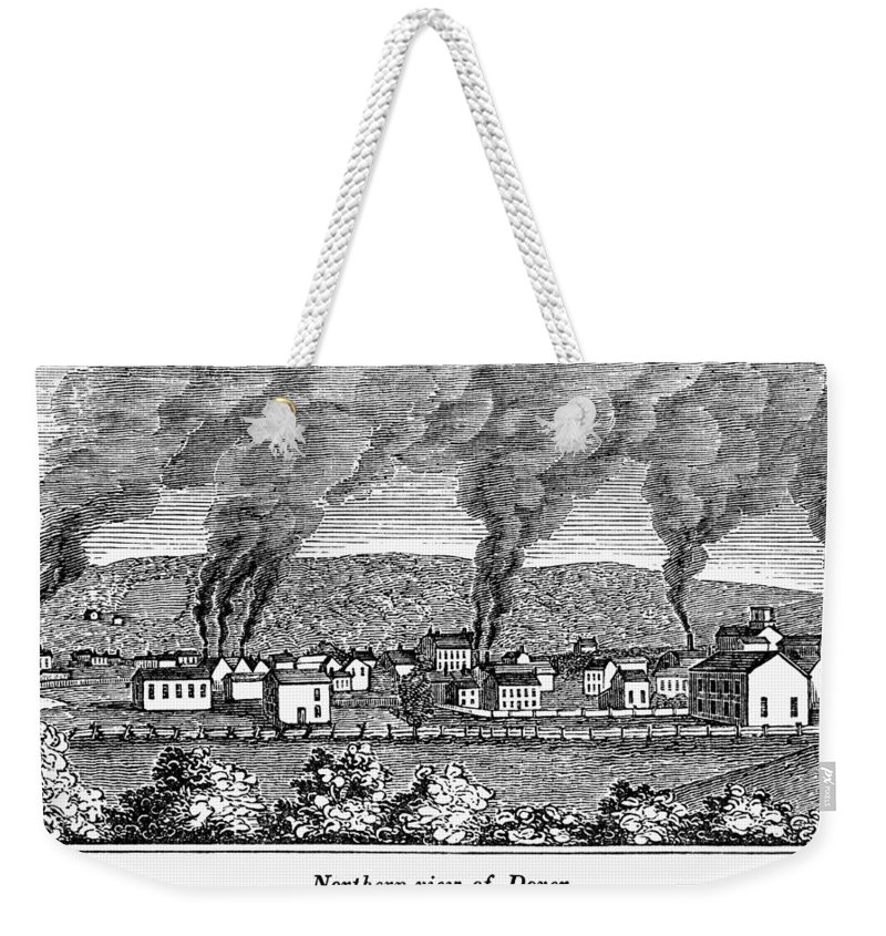 1844 Weekender Tote Bag featuring the painting Dover, New Jersey, 1844 by Granger