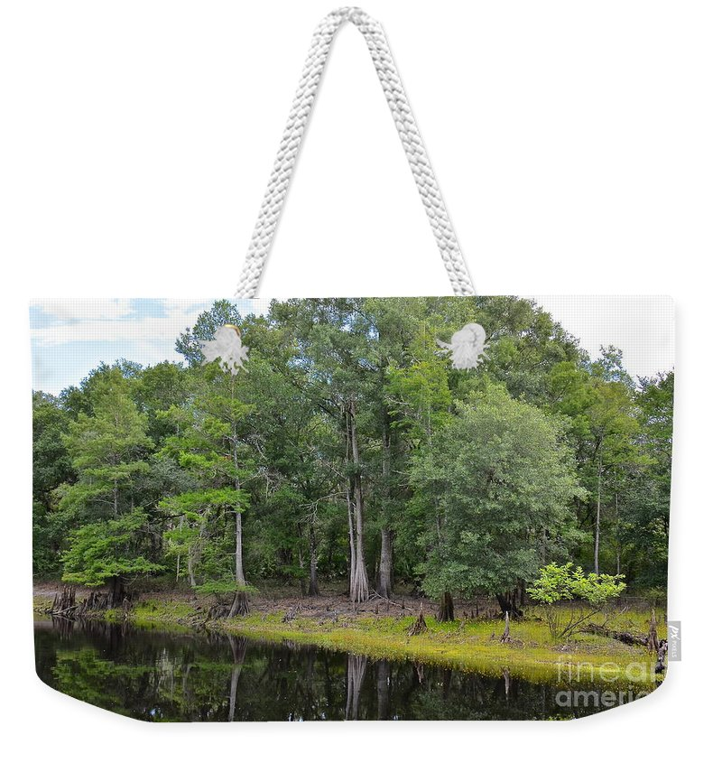 River Weekender Tote Bag featuring the photograph Down By The Riverside by Carol Bradley