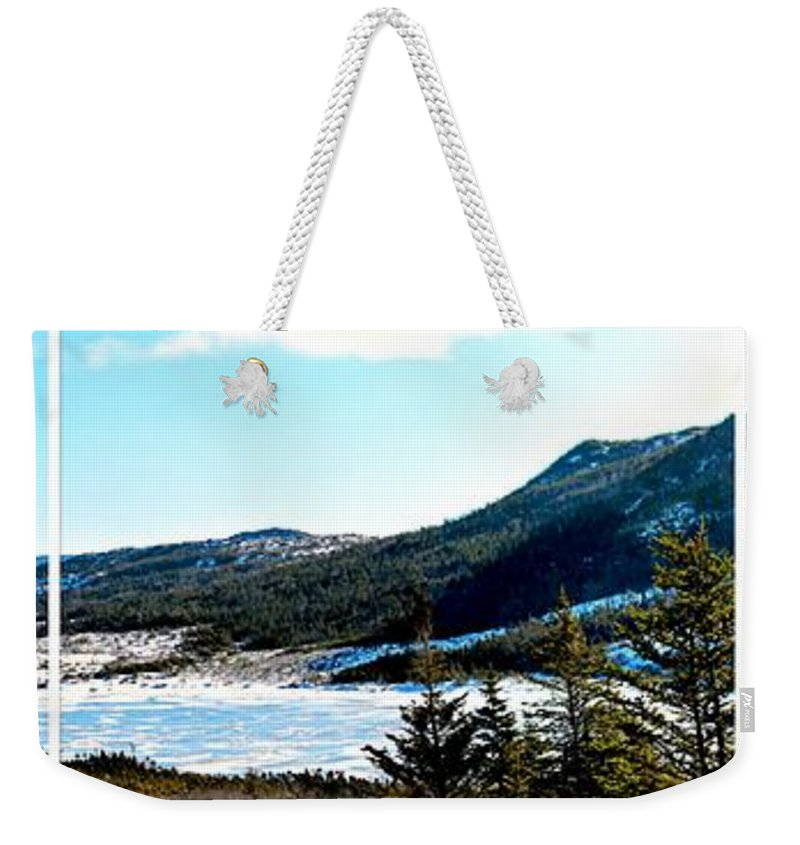 Down In The Valley Triptych Weekender Tote Bag featuring the photograph Down In The Valley Triptych by Barbara Griffin