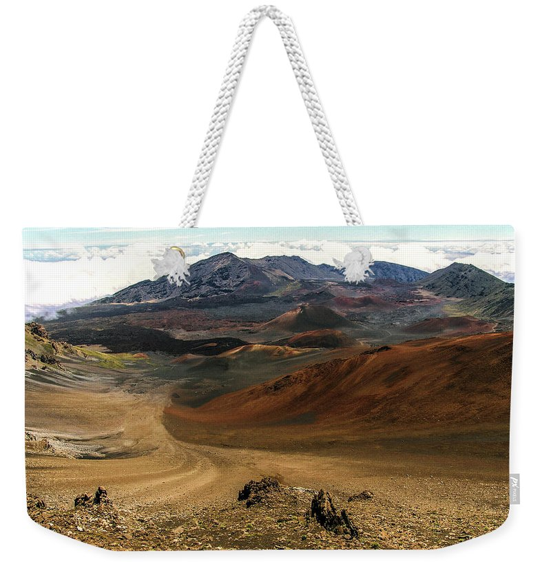 Maui Weekender Tote Bag featuring the photograph Down Into The Creator by Eric Swan
