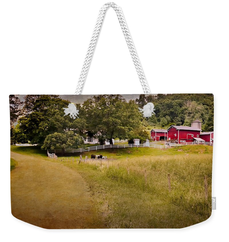 New England Farm Weekender Tote Bag featuring the photograph Down On The Farm by Bill Wakeley