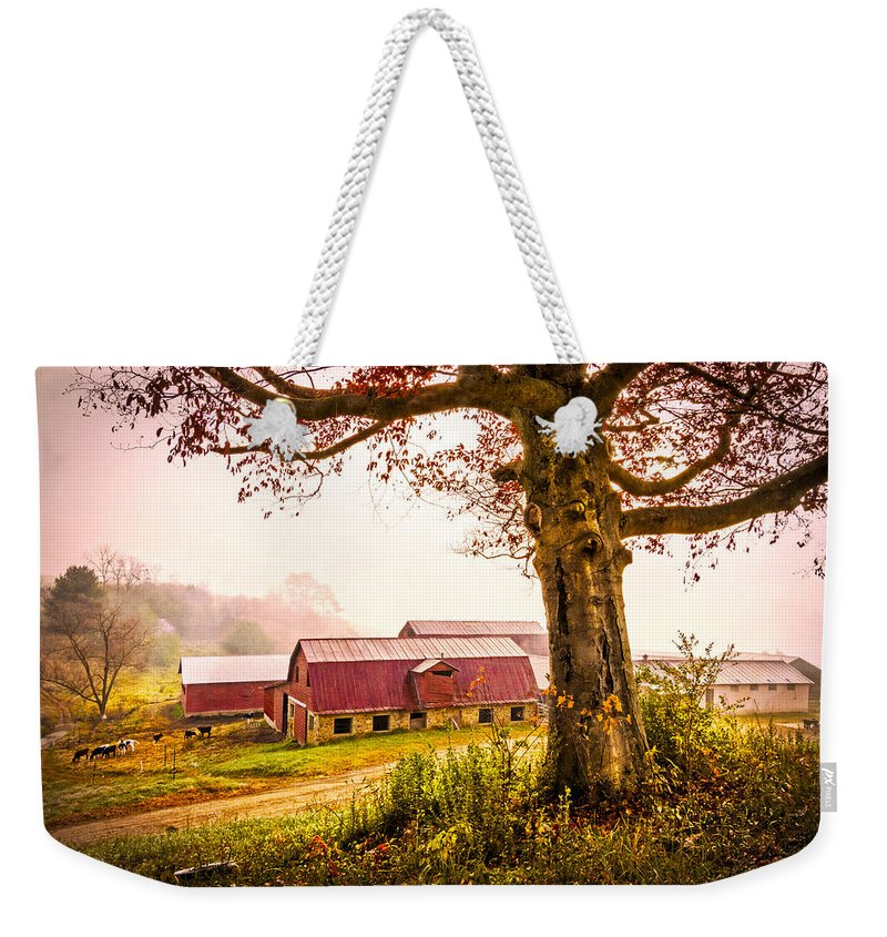 Appalachia Weekender Tote Bag featuring the photograph Down On The Farm by Debra and Dave Vanderlaan