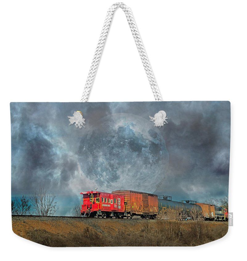 Full Weekender Tote Bag featuring the photograph Down The Line by Betsy Knapp