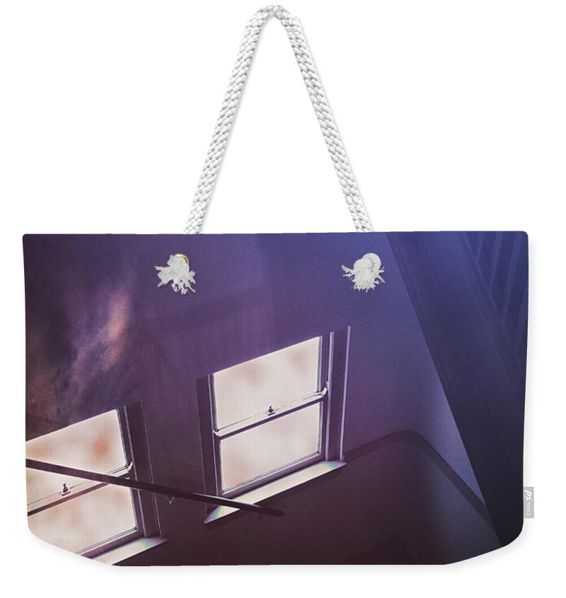 Stairs Weekender Tote Bag featuring the photograph Down The Stairs by Margie Hurwich