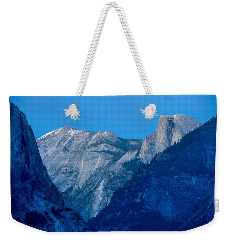 Yosemite Weekender Tote Bag featuring the photograph Down The Valley Yosemite by Steve Gadomski