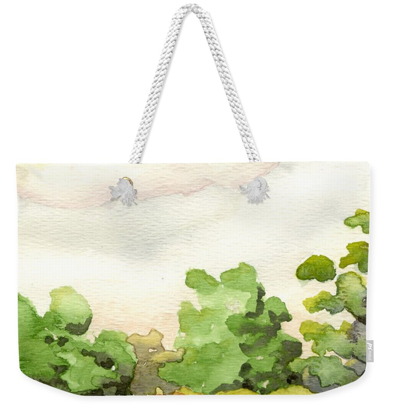 Acrylic Prints Weekender Tote Bag featuring the painting Downriver Napanee by John Herzog