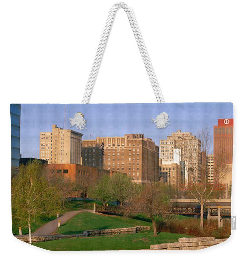 Photography Weekender Tote Bag featuring the photograph Downtown Omaha Ne by Panoramic Images