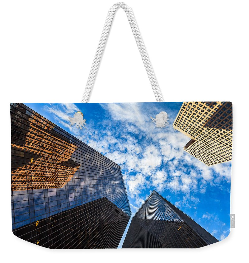 Architecture Weekender Tote Bag featuring the photograph Downtown Skyscrapers by Raul Rodriguez
