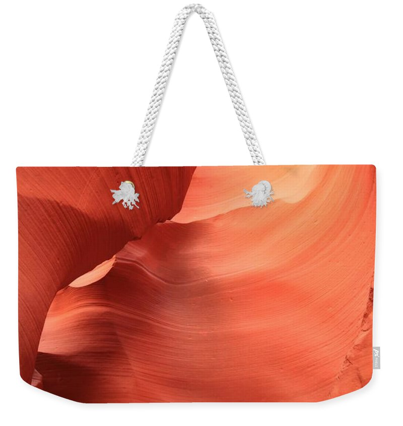 Arizona Slot Canyon Weekender Tote Bag featuring the photograph Downward Spiral by Adam Jewell