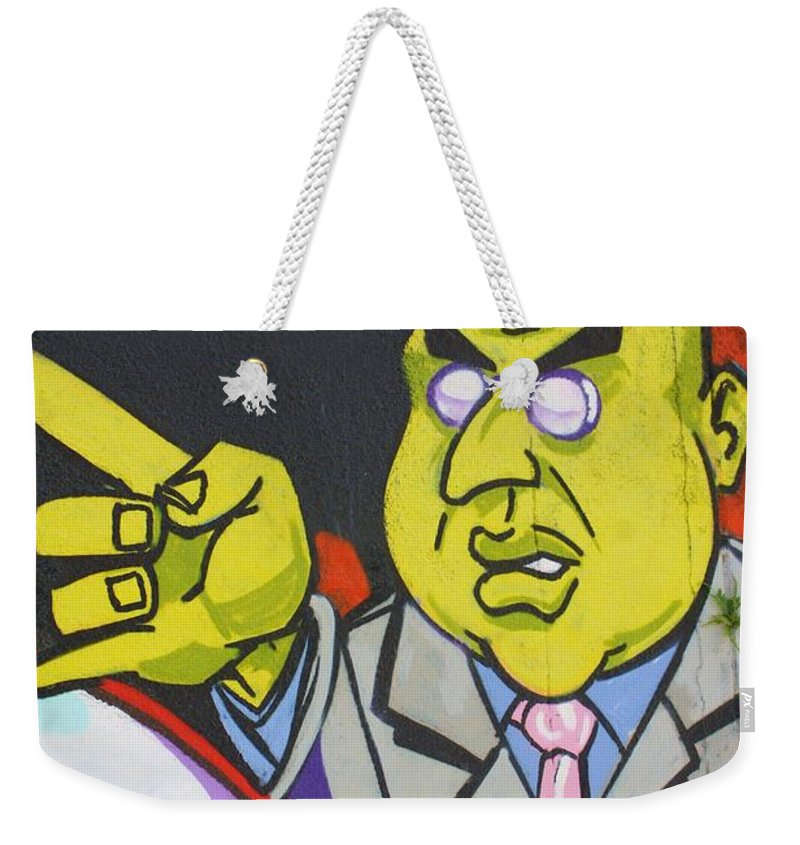 Evil Weekender Tote Bag featuring the photograph Dr Evil by Chuck Hicks