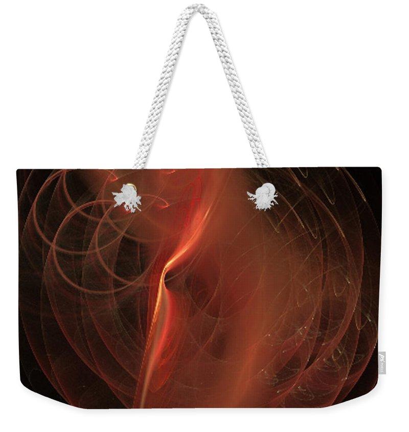 2-dimensional Weekender Tote Bag featuring the digital art Tribute by Dana Haynes
