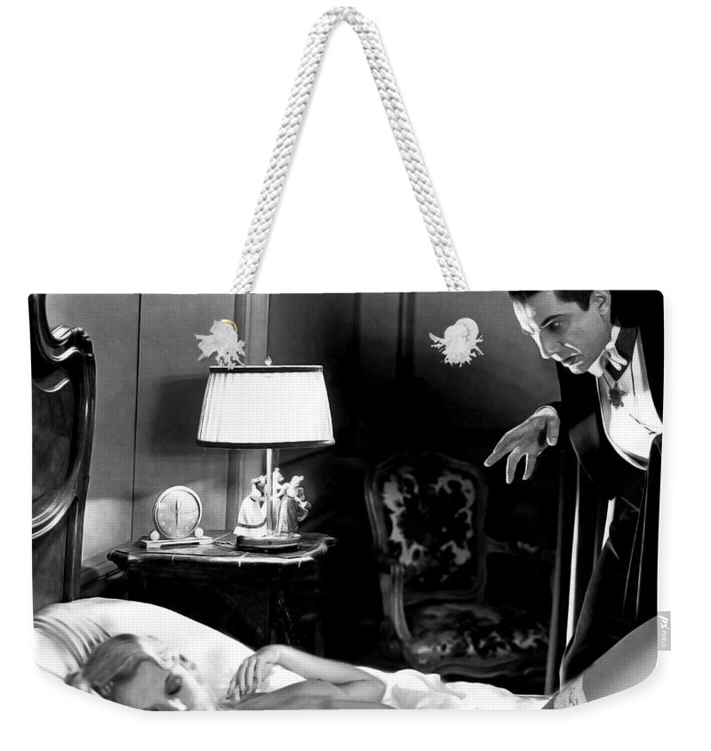 Dracula Weekender Tote Bag featuring the photograph Dracula Bela Lugosi Fantasy Nude by Jorge Fernandez
