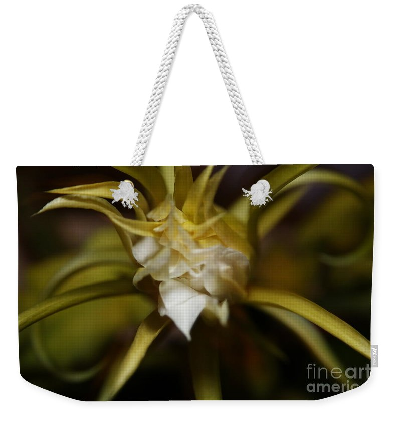 Asian Weekender Tote Bag featuring the photograph Dragon Flower by David Millenheft