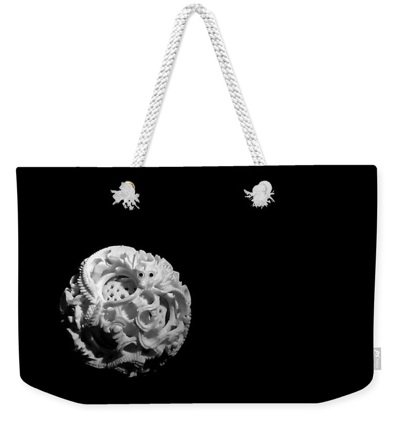 Japanese Puzzle Ball Weekender Tote Bag featuring the photograph Dragon Puzzlement by Susan Maxwell Schmidt