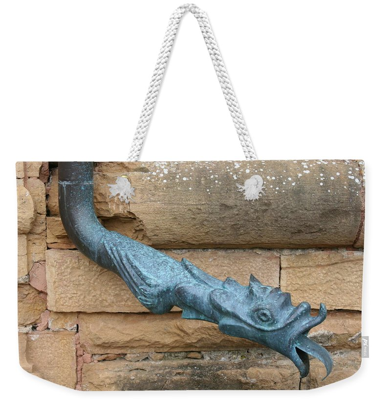 Dragon Weekender Tote Bag featuring the photograph Dragon Waterspout Chateau De Cormatin by Christiane Schulze Art And Photography