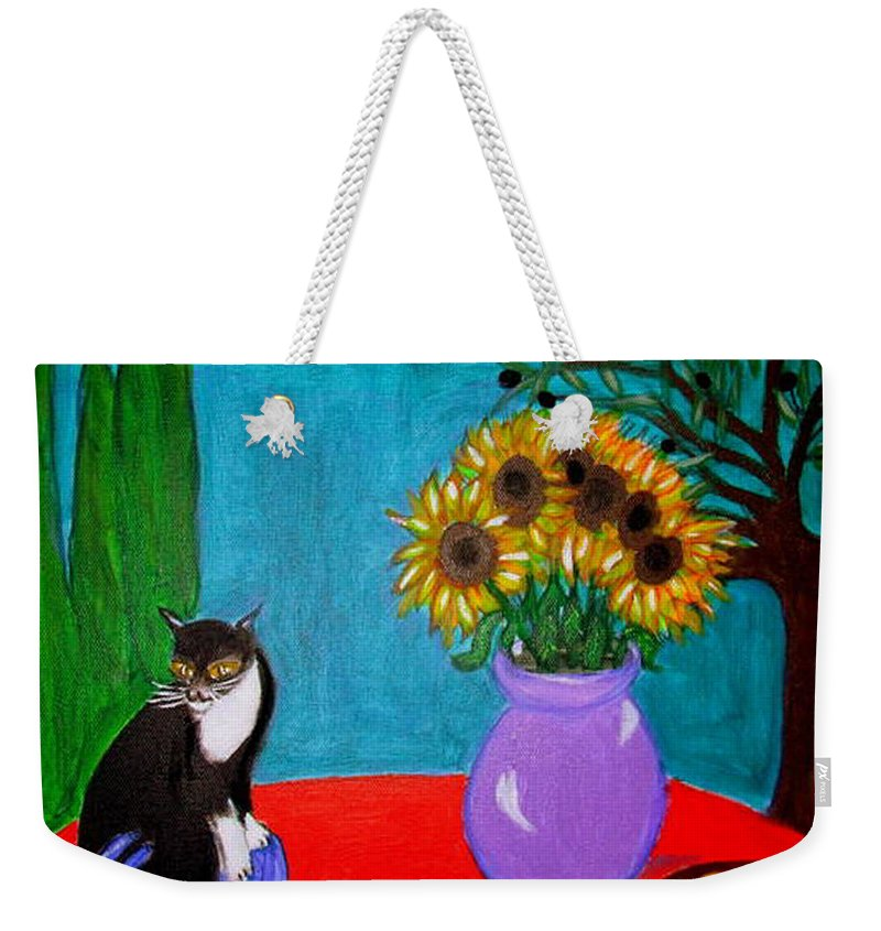 Dragonflies Weekender Tote Bag featuring the painting Dragonfly Days in Provence by Rusty Gladdish