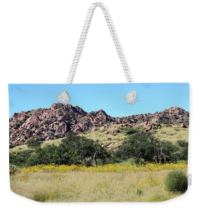 Dragoon Mountains Weekender Tote Bag featuring the photograph Dragoon Mountains by Joe Kozlowski