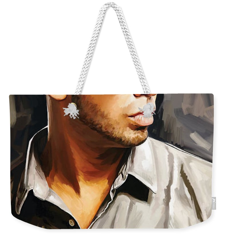 Drake Paintings Weekender Tote Bag featuring the painting Drake Artwork 2 by Sheraz A