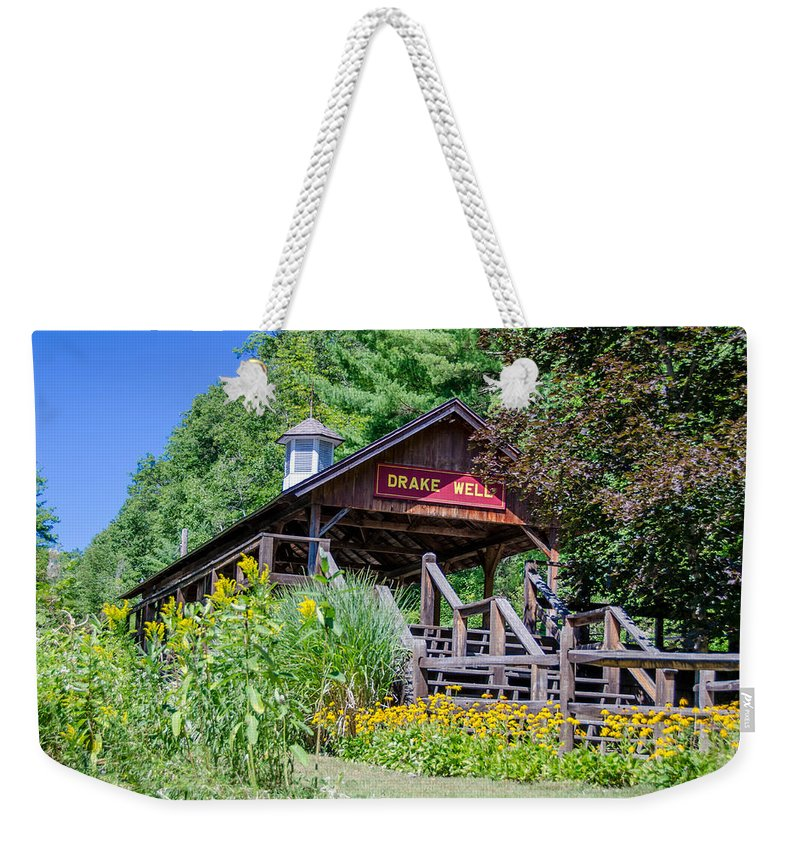 Guy Whiteley Photography Weekender Tote Bag featuring the photograph Drake Well Stop 3d21667 by Guy Whiteley