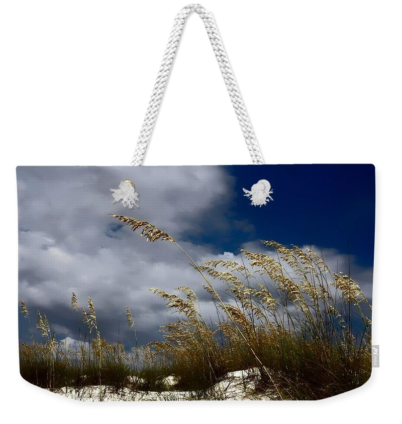 Florida Weekender Tote Bag featuring the photograph Drama In The Sky by Debra Forand