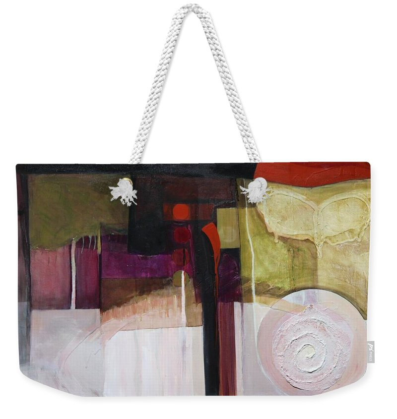 Paper Weekender Tote Bag featuring the painting Drama Too by Marlene Burns