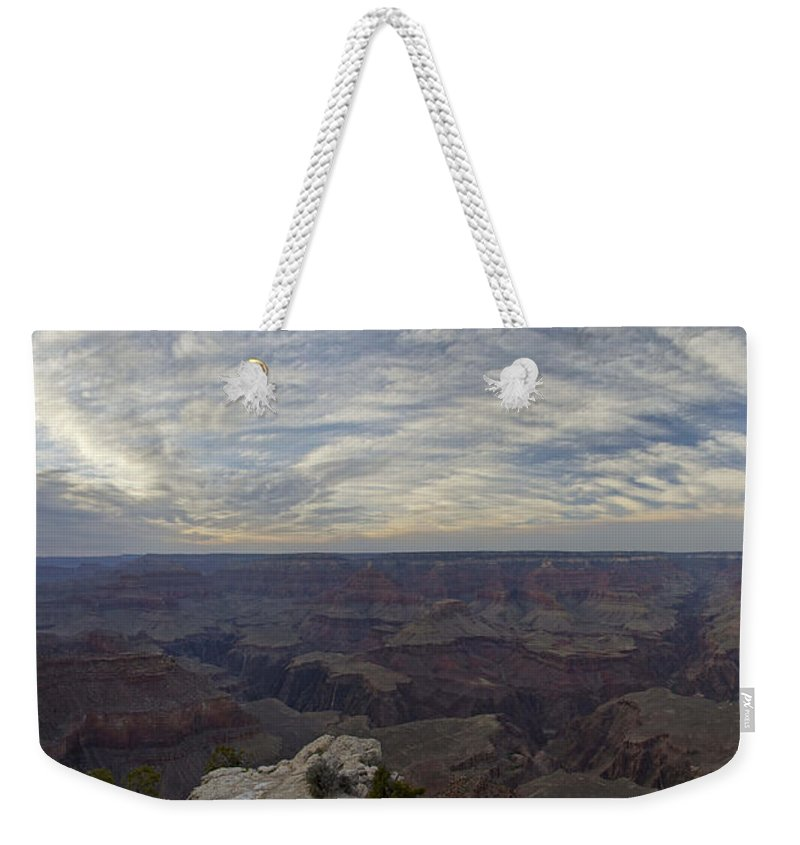 Grand Canyon Weekender Tote Bag featuring the photograph Dramatic Grand Canyon Sunset by Brian Kamprath