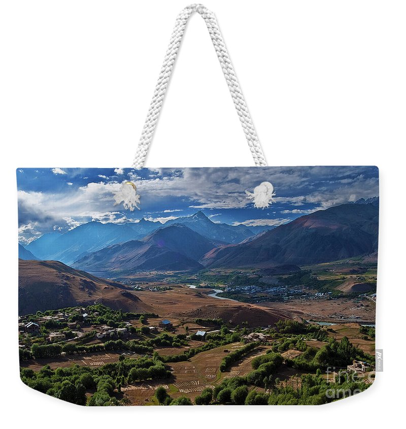 Drass Weekender Tote Bag featuring the photograph Drass... by Nina Stavlund