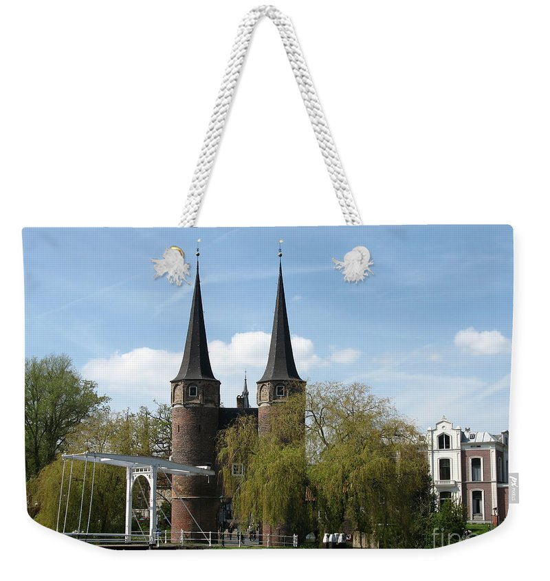 Drawbridge Weekender Tote Bag featuring the photograph Drawbridge - Delft - Netherlands by Christiane Schulze Art And Photography