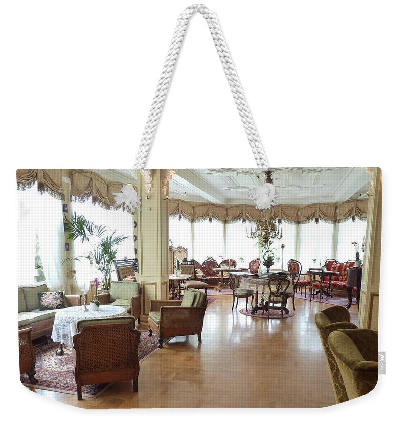 Weekender Tote Bag featuring the photograph Drawing Room Of Union Oye by Katerina Naumenko