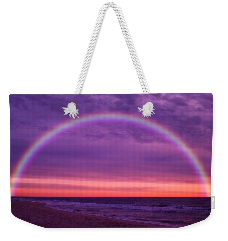 Jersey Shore Weekender Tote Bag featuring the photograph Dream Along The Ocean by Angie Tirado