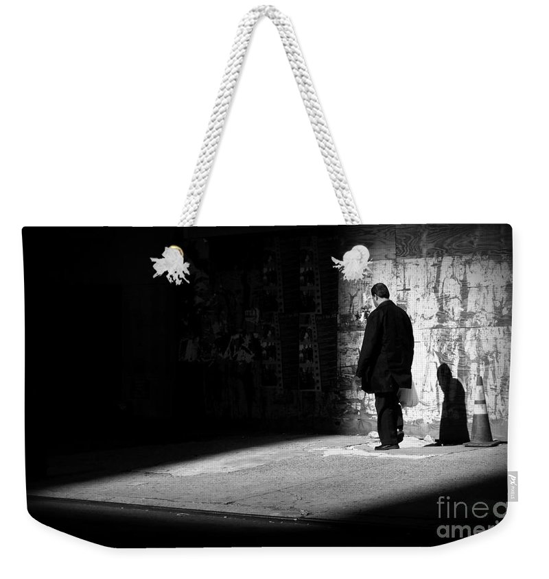 Surreal Weekender Tote Bag featuring the photograph Dream - New York City Street Scene by Miriam Danar