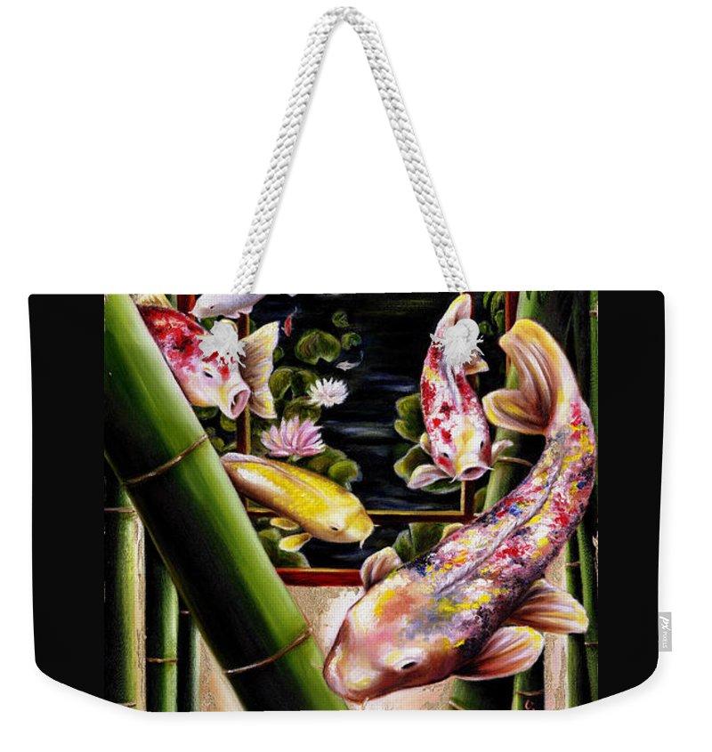 Japanese Weekender Tote Bag featuring the painting Dream by Hiroko Sakai