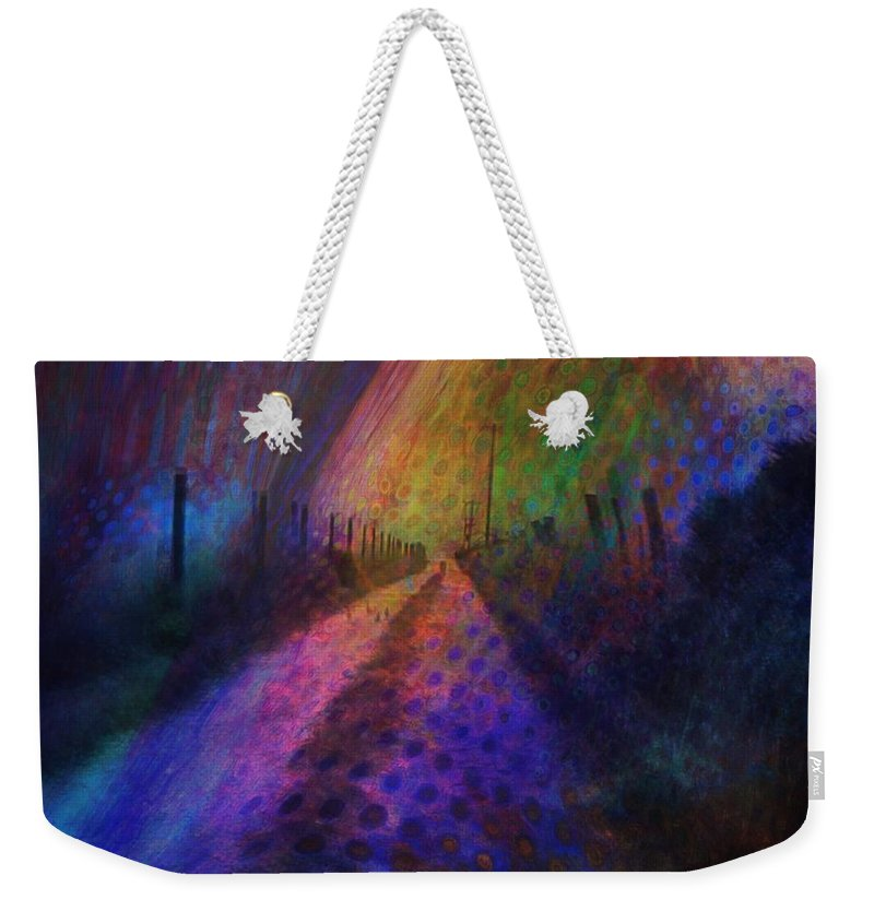 Dream Land Weekender Tote Bag featuring the painting Dream Land by Suzy Norris